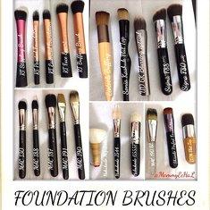 Foundation & Cream Blush Brushes #brushes #realtechniques #ecotools #soniakashuk #urbandecay #sigmabeauty #mac #hakuhodo #shisedo #everydaymineral #brushaddict #makeupjungkie #clozetteid #femaledaily