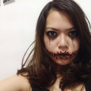 Stitched up mouth makeup #ClozetteID #COTWXRepit #CIDHalloween #COTW