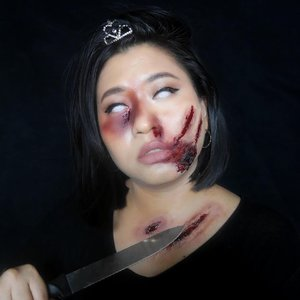 #Repost from Clozetter @kikicasmita.   Make up #halloween tahun lalu. Akhirnya mainan sama LATEX ♥️ • • • #clozetteid #100daysofmakeup #makeuplooks #makeuplovers #inssta_makeup #liquidlipstick #make4glam #makeuplovers #witchcraft #myartistcommunity #indobeautygram #indobeautyblogger #jakartabeautyblogger #halloween2020 #halloweenmakeup #halloween2021