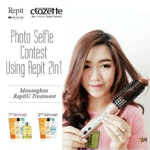 Reminder for all Pretty Gilrs! @ClozetteID mengadakan Photo selfie Contest menggunakan Repit Magic Brush Iron 2in1 dengan hadiah 1 set RepitU Treatment senilai total 2,3 juta rupiah untuk 2 orang pemenang!  Syarat&Ketentuan: 1. Follow akun Instagram @RepitIndo & @ClozetteID 2. Upload foto selfie kamu dengan produk Repit 2in1 ke Instagram. 3. Tag @RepitIndo @ClozetteID dan sertakan hashtag #ClozetteXRepitIndo #Clozetteid  #RepitIndo (Jangan lupa menyertakan seluruh Hashtag)  Kalian bisa lihat Contohnya di postingan @RepitIndo @ClozetteID @adieztyfersa  Baca Juga review dari aku ya http://bit.ly/1sq4ySB (Link on Bio)  Submit foto ditunggu paling lambat tanggal 31 Mei 2016, ya. Jangan lupa promote foto selfie kamu karena semakin besar like foto semakin besar pula kesempatan menangnya! Good luck gilrs!