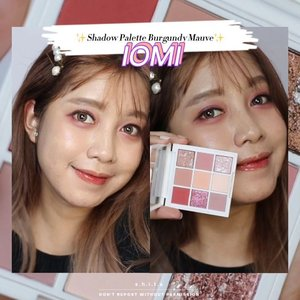 🌺𝑰𝑶𝑴𝑰 - 𝑬𝒚𝒆𝒔𝒉𝒂𝒅𝒐𝒘 𝑷𝒂𝒍𝒆𝒕𝒕𝒆 𝑩𝒖𝒓𝒈𝒖𝒏𝒅𝒚 𝑴𝒂𝒖𝒗𝒆🌺  Eye Palette dari @iomibeauty ini terdiri dari 9 warna. 5 warna matte, 1 shimmer dan ada 3 glittery yang glitternya halus. Aku sih sebenernya lebih suka sama glitter yang gede-gede hehe. Nah warna-warnanya terdiri dari nude colors dan juga pink. Waktu di aplikasiin jadinya Pink Eye Makeup Look sih daripada burgundy... hmm tetep aja sih warnanya cantik kan. Berasa Idol mau manggung gak sih haha Btw aku beli ini dulu di @lamida.id pas lagi promo hihi  #iomi #iomieyepalette #beautystagram  #motd #clozetters #clozetteid #beautyreviewer #startwithSBN #eyelooksht #cchannelbeautyid #cchannelfellas #cchannelsquad @cchannel_beauty_id