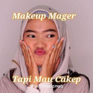 Pernah ga sihhh kalian mau pergi tapi males makeup? Aku si sering :')Biasanya gini doang nih, niat ga niat haha😂Kalo kalian lagi mager tapi mau cakep, kalian gimanaa? Share yuk!.DETAILS :Cushion @makeoverid Powder @ultimaii_id Blush On @eminacosmetics Mascara @youmakeups_id Lip tint @eminacosmetics Lipstick @maybelline ...................#cchannelbeautyid #tipskecantikan @inspirasi_cantikmu #ivgbeauty #tampilcantik @tampilcantik #videotutorial #zonamakeupid  @zonamakeup.id @ragam_kecantikan #indobeautysquad @indobeautysquad #beautybloggerindonesia @beautybloggerindonesia #bunnyneedsmakeup #indonesiabeautyvlogger #fff #makeupideas #makeuptutorial  #lfl #cushion #indobeautygram @indobeautygram  #clozetteid #theshonetinsider #cushionmakeover @clozetteid @wakeupandmakeup #undiscover_muas @makeover #makeupsimple #makeupnatural #cushioncover