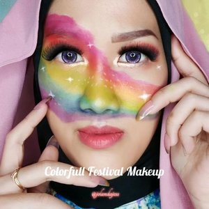 Here is.. My Colorfull Festival Makeup Looks for #softlenswisataidxtbs ❤💛💚💙💜 Semoga menambah warna dalam Ramadhan kalian biar lebih semangat 🤗 btw purple lensku cantik gak? . . . #JessMakeupLooks #colorfullmakeup #festivalmakeuplook #fantasimakeup #makeuptutorial #beauty #beautyblogger #beautybloggerindonesia #tampilcantik #storieid #qupasbeauty #makeuplooks #makeupaddict #makeupjunkie #clozetteid #makeup #makeupoftheday #flawlessmakeup #indobeautysquad #indobeautygram #ivgbeauty #indobeautyinfluencer #beautyinfluencer #beautyenthusiast #cchannelfellas #cchanelbeautyid