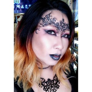 Goth and Vampy look is always my favorites look when I creating a glam halloween makeup..This look was creating last Friday at @urbandecaycosmetics #udindonesia counter at Plaza Senayan. Me with other 2 friends doing #instalive tutorial..Deets :- All Nighter Liquid Foundation shade 2.5 (my new wishlist!!)- Naked Skin Pressed Powder shade medium- Naked Skin Shapeshifter Palette- Vice Lipstick #perversion & #714- Razor Sharp Water-Resistant Liquid Eyeliner for eyes and for drawing - its pointy applicator makes an easy line- Heavy Metal Glitter Liquid Eyeliner #acdc - 24/7 pencil eyeliner perversion.-----------------.Jumat pagi kmrn, gw sempet live dan membuat tutorial glam halloween look bareng temen temen IBV dan Urban Decay Indonesia. As you know, gw menggunakan semua peralatan makeup dr UDIndonesia, tanpa facepaint sama sekali. Yess...UD punya semua senjata yang diperluin buat membuat sebuah makeup halloween yang keren!.Thankyou #UDindonesia for having me 💕💕💕...#urbanddecaycosmetics #UDhalloween #urbandecay #indobeautygram @indobeautygram #ibv #wakeupandmakeup #clozetteid #fdbeauty #halloween #halloweenmakeup #glamhalloween #glam #glamandgore #mykie_ #beautyvloggers #vloggerid #undiscovered_muas #muajakarta #dressyourface #halloweenideas
