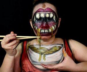 "Ini sarapan gw, mana sarapan lo?.Inspired by @zoe_artistsharvest ""Laughing Fangs"", @ella_ess_ ""Milk Milkshake"" and my favorite meal, noodles...#illusionmakeup #halloweenideas #halloweenmakeup #indobeautygram @indobeautygram #ibv #ivg #ivgbeauty @indovidgram #undiscoveredmuas #mykie_ #jordanhanz #creativeboss #creativemakeup #facepaintingjakarta #facepainting #clozetteid #sfxmakeup #specialfxmakeup #kbbvmember #bvloggerid"