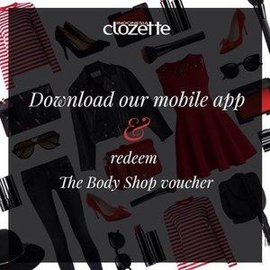 """Sekarang upload fotomu ke Clozette menjadi lebih mudah dengan Clozette Mobile App! Yay! Yuk, jadi 1000 orang pertama yang mendownload dan akan langsung mendapat voucher The Body Shop, lho!  Search dan download """"Clozette Indonesia"""" di Google Play & App Store. Kemudian jalankan aplikasinya dan cari kode voucher The Body Shop di bagian """"What's New - Highlight"""". Jangan lupa upload fotomu dengan hastag #ClozetteMobileApp apabila kamu upload fotomu dari aplikasi Clozette langsung, ya. Selamat mencoba, Clozetters! . #ClozetteID"""