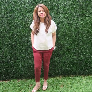 Selamat pagi! . . Maroon Cotton Pants by @twinsprojects . . #rekomendasiminda #ClozetteID