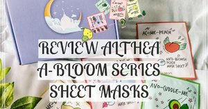 [REVIEW] ALTHEA A'BLOOM SERIES FRUIT SHEET MASKS