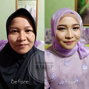 Before - After 🌸  info makeup :  082260592599  #bridesmaids #makeupartist #makeuppesta #makeup #engagementring #wisuda #wedding #amongtamu #makeuptutorial #makeupwisuda #makeupoftheday #engagementmakeup #mua #muajakarta #prewedding #clozetteid #wakeupandmakeup #hudabeauty #bloggerindonesia #beautyblogger #beforeafter #before #after #jakarta #depok #jabodetabek . ▪Maafkan kamera dan cahaya yg tidak memadai 🙏😊