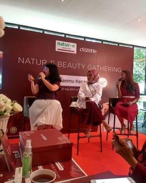 Penjelasan dari kak Nissa  @natur_e bahwa kulit perlu di jaga dari dalam dan luar. #KembalikanCantikMudaMu #KelebihanmuKecantikanmu #ClozetteIDxNaturE@natur_e_indonesia @clozetteid#ClozetteID