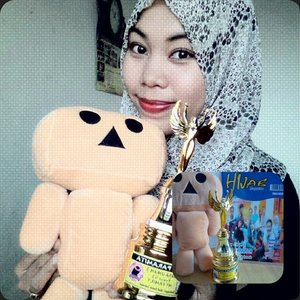الْحَمْدُ للّهِ رَبِّ الْعَالَمِينِ  Juara Umum 3 ❤ Terima Kasih @hijab_contest_indonesia (≧∇≦) Semoga makin sukses. Maaf #LatePost, seharusnya dari tanggal 27 April kemaren. °\(^▿^)/° #igers #HijabiQueen #ClozetteID #ContestHijab