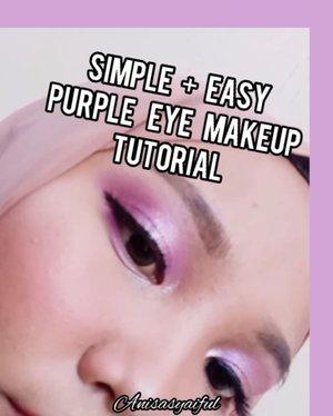 Simple + Easy PURPLE Eye Makeup Tutorial 💜 . Makeup Deets: - @mineralbotanica highlight and contour stick - @mineralbotanica loose foundation - @mixdair_indonesia 'beauty glazed' Jupiter eyeshadow palette by @mixdaircosmeticstore - @fanbocosmetics eyeliner pen - @adeevaskincare sweet matte lipcream . . . . Tags: : #purpleeyeshadow #purplemakeup #purpleeyelook #mineralbotanica #beautyglazed #mixdaircosmetic #mixdair #fanbocosmetics #hijabersindonesia #ootdhijab #tipskecantikan #cantikekonomis #belajarmakeup #makeupnatural #inspirasicantikmu #ragamkecantikan #tutorialmakeupindo #tutorialmakeup #makeuptutorial #makeuppemula #tampilcantik #makassarbeautygram #beautyinfluencermakassar #beautybloggermakassar  #makassarbeauty #clozetteid