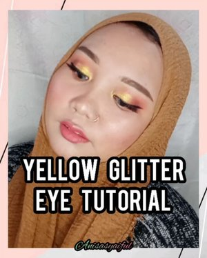 Yellow 😍😍 Disini aku pakai product makeup yang lagi aku suka banget 💕 . Makeup Deets: - @riveracosmetics cover it all matte foundation - @mineralbotanica highlight and contour stick - @thesaemid cover perfection tip concealer - @saceladycosmetic tinted brow gel - @focallurebeautyid twilight eyeshadow palette - sacelady pop cheek compact blush - @saceladycosmetic highlighter palette - @inga_official semi matte lipstick . . . . Tags : #yelloweyeshadow #glittermakeup #riveracosmetics #thesaem #focallure #saceladycosmetics #ingacosmetics #kbeauty #hijabersindonesia #ootdhijab #tipskecantikan #giveawayindonesia #altheaangels #cantikekonomis #belajarmakeup #makeupnatural #inspirasicantikmu #makeupoftheday #ragamkecantikan #tutorialmakeupindo #tutorialmakeup #makeuptutorial #makeuppemula #tampilcantik #makassarbeautygram #beautyinfluencermakassar #beautybloggermakassar  #makassarbeauty #clozetteid