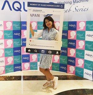 Morning ... Attend Hijab Fashion Clinic @scarf_magz @aquajapanid berbagi kesehatan dari penggunaan mesin cuci yg baik pada pakaian dg menyadari akan kebutuhan masyarakat untuk mencuci bahan2 lembut sperti hijab dan baju muslim dlm perkembangannya fesyen muslimah kian makin menjadi trending up di indonesia kini maka hadirlah Aqua japan menghadirkan mesin cuci hijab series  #aquajapan #makeyoubetter #hijabfashionclinic #clozetteid  @scarf_magz @aquajapanid