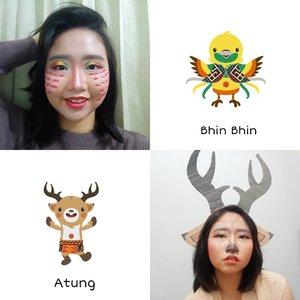 So, what do you think about my face painting or my makeup look inspired by Bhin Bhin and Atung? 💜 .Sebenernya udah mau bkin yg versi Kaka tapi ternyata gagal krn ga mirip jadi ya udah ga bkin wkwk 😂 .#AforAlinda #A #alindaaa #alinda #alindaaa29 #WajahKolaborasia #SukseskanAsianGames #AsianGames2018 #ClozetteID #byalindamakeup #beautyenthusiast #makeupenthusiast@beautycollab.id #BeautyCollabID @indobeautysquad #indobeautysquad  @beautiesquad #beautiesquad  @beautygoers #beautygoersid @beautychannel.id #beautychannelid@kbbvbyacb #kbbvbyacbFeatured