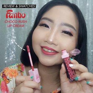 ~ #MiniReviewbyAlinda ..Happy National Lipstick Days!!!! and I celebrate it with new lipcream series of @fanbocosmetics 💋💋 .Kalian udah tahu belum kalau @fanbocosmetics itu baru aja launching lip cream trbaru dengan varian wrna yang ada hint wrna chocolate gitu 😊 Langsung aja yuk kita review! ..Collaboration post with @beautysociety.id x @fanbocosmetics ..#MiniReviewbyAlinda ..Fanbo Choco Rush Lip Cream💖 01 It's Amberday💗 02 Rouge in Minute💝 03 Honey Month💟 04 Scarlet Week💓 05 During Sepia Hour .Overall, aku suka sama semua warnanya karena ga ada wrna gonjreng. But, i love shade number 03 Honey Month 💘 Choco Rush Lip Cream memberikan hasil akhir matte finish dengan tekstur yang ringan dan cocok dipakai sehari2, serta memiliki pigmentasi warna yang bagus banget, ditambah ketahanannya juga best sih! 👍💟 ditmbah lagi hrganya bersahabat guys, cuma IDR 51.000,- aja loh! ..Buat kalian yg penasaran sama wrna2nya, langsung swipe 👉 for more pict 'bout swatches this Fanbo Choco Rush Lip Cream. Aku  bikin swatches di tangan sama bibir juga nih ❤ ..#AForAlinda #alindaaa29 #alinda #alindaaa #Clozetteid #rezekigakketuker #jalani_nikmati_syukuri #fanbochocolipcream #fanbocosmetics #fanbocosmeticsxbeautysocietyID #beautysocietycollabreview