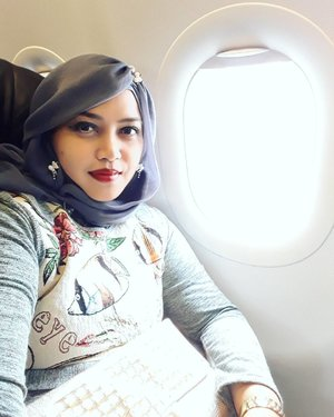 Wed, April 26th, 2017 --- ✈🛩🛫 #LeavingonaJetPlane ... It just me, myself & I . #Enjoy #solotrip that kinda addictive lolz after the last solotrip to Surabaya hehe. Try to find a #newadventure of my life. All the best and all is well for all of us amiin... Hello again #Yogyakarta! Here I come!... 🛫🛩✈ --- --- #clozetteid #muslimahtraveler #hijabtraveler #hootd #traveling #fashion #00tdmodest #traveler #headscarf #traveloutfit #myjourney #VisitYogya