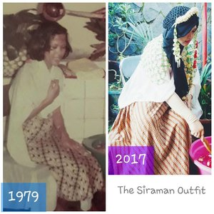 "Thu, Nov 16th, 2017 (H-2)--- "" #SiramanJamanOld (1979) vs #SiramanJamanNow (2017)"" 😂😂------------melihat foto jadul Mama saat #siraman , aku juga jadi pengen dimandiin Babeh Mama sambil mengenang masa kecilku yang indah... Acaranya benar2 spontan  dan dengan keluarga inti aja.Semalam baru download musik #kecapi dan seruling #Sunda nya. Bunganya pun baru dipetik Mama pagi ini dari taman rumah dengan jumlah random yg penting warna-warni biar berasa #PutriKeraton 😆😆😆Airnya dari selang taman, baru diisi Sandhi adekku.#GayungBatok nya juga baru dibeli dari Yogya oleh Sandhi dan @dewirahmawati29  senin lalu. -Waktu air dibasuhkan, aku merasa ada doa dan kasih sayang melimpah dari tangan mereka.Air mata langsung mengalir mengingat momen kebersamaan masa kecil...😢Terima kasih Babeh... Mama... adik2 juga my dearest student / sis @inkamarshanda yg juga baru aku kabari dadakan 🤣💖💖💖Terima kasih untuk limpahan doa dan kasih sayangnya...Semoga Allah selalu bersama kita semua amin yra...---#clozetteid#RoyalWedding#journeytothewedding #weddingpreparation #traditional#Indonesianculture"