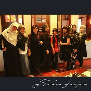 """OCTOBER 14TH, 2015 ----- #Gothic was our theme of the month. We chose #gothiccafe #deathbychocolatebogor  as our #JFashionJumpers #FashionCommunity #sisters #gathering for this October. My #style was #vintagegoth 😉 """"We are the #prettycreepy #Vampiresisters!"""" hehehe 😈💀👻 #ClozetteID #COTW #clozettehalloween @clozetteid #fashion #OOTD #modestfashion #coveredstyle #headscarf #scarf #instafashion  #fashiongram  #kulinerbogor #Indonesia #Bogor #Streetstyle #stylishtraveler #cotw"""