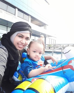 Dec 15th, 2019--- For you, I always wanna be #strong and health, #Son... you are #ThebestgiftfromAllah . . #Mommy will take care of you... thank you for teaching me how to feel #grateful everyday... Alhamdulillah... ----#clozetteid#kawaiiMommyandSon #nhkkawaii#burkini #swimmingpool #babyswimming