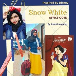 Tue, Dec 1st, 2020 ❤️🍎👑 Hello December!... Pandemi Covid 19 sudah 9 bulan aja di Indonesia ya... Sudah kangen traveling... Kangen foto2 #fashiontematik hiks..... Tapi gimana? Ya udah, foto #thematicfashion nya  at #campus aja 😂😂 sambil RDK #DesainModePolimedia hari ke-3. Kali ini temanya #DisneyPrincess #SnowWhite ❤️👑🍎 #Colorchart : #Yellow💛 , #DarkBlue💙 , #White 🤍 and #Red❤️ ----#nhkkawaii #clozetteid #Modestfashion #modestwear#redribbon#bluedenimjacket#Yellowskirt#lecturer