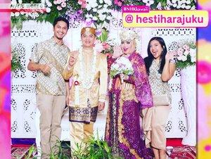 Fri, Feb 8th, 2018 --- HestixErlan on #NHKWorld TV again !  #KawaiiInternational #TVprogram episode #79 . Yeayy! Thank you #NHKKawaii 💋 from me and my hubby @erdin.saef - - - - - #weddingday #clozetteID  #muslimbride  #hijabbride #sundanesewedding #kawaiihijab #modestfashion #modestwear