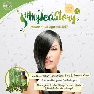 @myleaindonesia sedang ngadain lomba #myleastory di #instagram lho. Hadiahnya jutaan rupiah! Mau ikutan juga? Silahkan geser foto ke samping dan ikuti mekanisme yang berlaku.  Good luck! 😄  #myleaindonesia #instagramcompetition #shampoo #hairtreatment #perawatanrambut