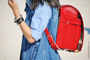 Cute red bagpack