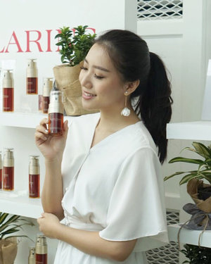 So happy to be part of @clarinsclub.id Seeds of beauty event to support the earth by growing more trees 💖Clarins believes that we have to give back what we took from the earth ( because clarins always use natural ingredients ) so every purchase of Clarins double serum will be counted as one tree ✨This serum will be available to purchase by the end of this year ❤️