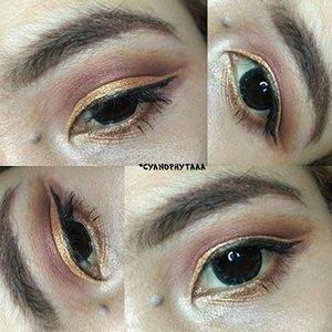 Trying gold cut crease ! 👀 . . . . #makeup #eotd #eyeoftheday #cutcrease #clozette #clozetteid #clozetter #beauty #beautyblogger #indonesianbeautyblogger #beautybloggerid #indobeautygram #indonesianfemalebloggers #bloggerperempuan #bandungbeautyblogger