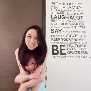 Try to be happy everyday 👩👧#clozetteid #momanddaughter #ourqualitytime