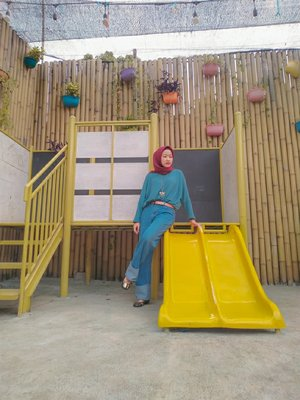 #ClozetteId #ootd #blue #yellow #hijaboutfit #hijabers