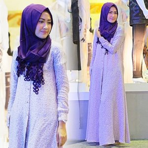 My outfit for #IFW2015 Day 3 - VIRDHA Purple dress & shawl from @elhasbu come to our booth C067 #ElhasbuIFW2015 #ClozetteId