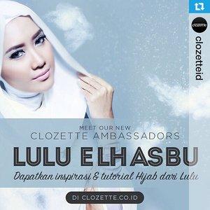 #Repost from @clozetteid Welcoming our new Clozette Indonesia Ambassador, Lulu El Hasbu. --- Cek koleksi inspirasi gaya hijabku disini Clozetters :) http://id.clozette.co/u/Luluelhasbu #clozetteid