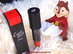 Sesuai namanya produk ini emang gila banget >___< Pigmentainya kece dan staying powernya SANGAAATTT KECE!!! Dia punya 2 shade Tango Red (untuk kulit cooltone) kalau Hot Cherry Red (untuk kulit warmtone). Kalau mau baca full reviewnya silahkan meluncur ke blog aku ya <3