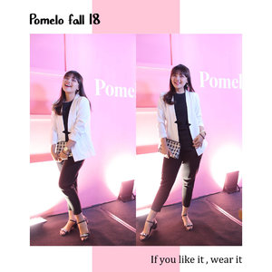 Attending @pomelofashion fall 2018. My favorite is sequins top and dress, feels sparkling like barbie #pomelofall18 #clozetteid #ootd #trypomelo #fashion @clozetteid