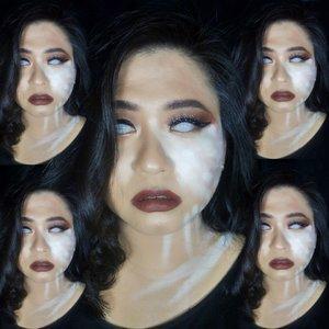 """...then her heart opened, to the sorrow and art...� - @anomadwrites Recreated @amandamargareth 's look, with a twist 😷•••#clozetteid #crazymakeup #100daysofmakeup #makeuplooks #makeuplovers #inssta_makeup #liquidlipstick #make4glam #makeuplovers #witchcraft #myartistcommunity #indobeautygram #indobeautyblogger"
