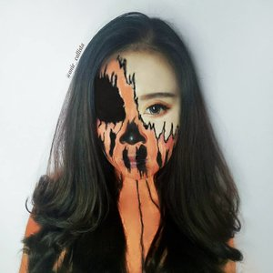 Say hello to Ms. Pumpkin! 🎃🎃 . . . . . . . #halloweenmakeup #halloween #pumpkin #CChallengeHalloween2019 #cchannelfellas #cchannelbeautyid #facepainting  #motd #makeupideas