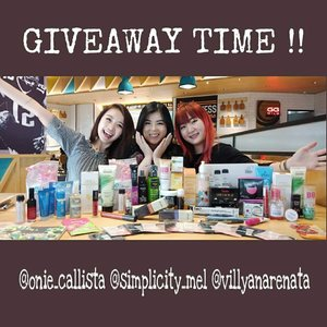 GIVEAWAY ALERT!! ❤.Kali ini aku, @simplicity_mel & @villyanarenata ngadain Giveaway lohhh!  Worth more than 2 millions for 5 winners!! 🙈🙈.How to enter:1⃣ Follow @onie_callista @simplicity_mel  @villyanarenata (we'll be checking!)2⃣ Like this post!3⃣ Tag 5 REAL friends in comment. U can entry more than 1 comment with tag other REAL friend.4⃣ Repost this post at your Story and tag us and use hastag #GiveawayVOM5⃣ Be active, love and comment at our post! --PS — for an extra entry repost this picture (feed or story) with hastag #giveawayVOM --Ends 7 Feb 2019, at 11:59pm WIB. We will announce 5 winners at 9 Feb 2019.. So, good luck!! 😘😘 #giveaway#giveawaymakeup#giveawayskincare#giveawayindo#giveawayID#giveawaycontest #giveaways #giveawaytime #giveawayalert#giveawayhunter