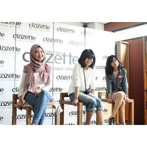 We're Community Team @christinaholmes @dillafdiah @clozetteid #clozetteid #ClozettersMeetUp #HadaLaboID