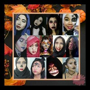Yuhuuu ramai sekali Halloween Makeup Look Collaboration with @beautiesquad sampe ada 3 banner gila!!! Sejujurnya aku gasuka angka 3 sih soalnya aku gasuka ada orang ketiga di antara kita 🙈🙈🙈 Haha anyway karena orangnya super duper banyak jadi gabisa semuanya aku tag huhu paling pej one aja yaaa yg aku tag.. Banner ke-2 sama ke-3nya aku mention aja di caption huehehe maapin loh ya kalo salah, aku sudah berusaha hahaha 🎃2ND BANNER🎃 First Row: @art.yuliana - @suniims - @ratna.adr - @emput_puuuttt  Second Row: @sukasukasharon - @esterherliana - @ameltami - @titah.in Third Row: @arvi.n - @linastory.id - @viadewis - @maygically - @shintadwia Fourth Row: @onnie_callista - @kamilah_hasna - @suzannita - @amandasmess Last Row: @irabintiazhari - @deemiiaa - @nata.hsu - @azuarieka 🎃3RD BANNER🎃 First Row: @stefannyfausiek - @xllenlimx - @tamioktari - @villyanarenata Second Row: @corypramessti - @arifanuryani - @dillafdiah - @eka.kuncoro Third Row: @riannarie - @olaole22 - @rima_angel - @ayudamayanthi - @dwi.lisasetiani Fourth Row: @schmakeup - @viiey_septiyan90 - @cathelenewenas - @rusydinat Last Row: @cathysie - @tiarafrdz - @insommia - @niiasantoso  #BeautiesquadOctCollab #BeautiesquadSpookyFace #Halloween #HalloweenMakeupLook #BeautyGuru #BeautyVlogger #ClozetteID #Beautiesquad #bvloggerid #beautynesiamember #muajakarta #indobeautygram #indovidgram #indobeautyvlogger #bunnyneedsmakeup #ivgbeauty #sfx #sfxmakeup #halloweenmakeup #skull #skullmakeup  #halloween2017 #sugarskull #flower #floral #floralmakeup #hairpiece #headpiece
