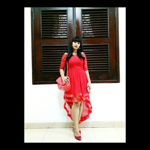 Cause I'm not just a pretty girl. . . . #Beautiesquad #bvloggerid #clozette #clozetteID #beauty #makeup #fashion #ootd #dress #red #heels #reddress #redheels  #muajakarta #partymakeup #kondangan #makeupkondangan