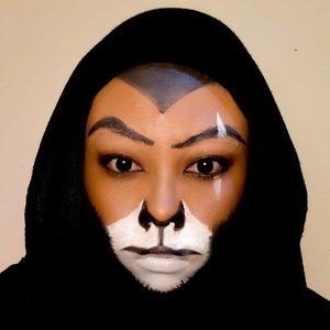 🦁, produk gagal wkwkwk itu kenapa mulutnya jadi kayak kumis 😂. Maklum ya bor, masih pemula 🙏.#titahsanjana #ClozetteID #clozette #clozetteid #lion #lionking #scarlionking #lionkingmakeup #facepaint #artmakeup #jbbfeatured #beautygoersid #beautiesquad #beautyblogger #beautybloggerindonesia #scarmakeup