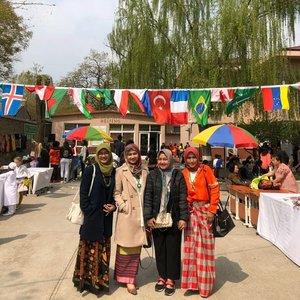 Boleh juga klo sering-sering ~ kumpul otm ID di acara sekolah ☺#beijing#clozetteid#culturalday