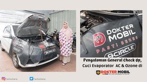 Diary Pink Tian: Pengalaman General Check Up, Cuci Evaporator  AC & Ozone di DOKTER MOBIL Bandung