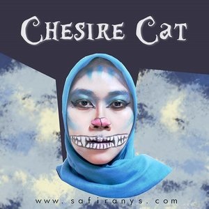 My first attempt on doing Chesire Cat makeup🙀  Turns out, it needs a high amount of consistency, hardwork, patience, and effort to paint on face. (Kudos to all the face-painting master!✨) I know, this look need tons of fixing. Still, my first try though. Note that I'm not that artistic😂  Thank you @yunitaindriyani4 for being so patience while I'm doing things on your face!  #clozetteid #halloween #nyxcosmeticsindonesia #bblogger #bloggerperempuan #chesirecat #chesirecatlook #aliceinwonderland #makeup #fantasymakeup #chesirecatmakeup #bringouttheboo #beautyandfashion #makeup #motd #starclozetter