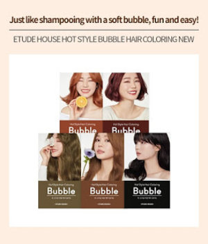 Lassie Newfangled: [Review] Etude House Hot Style Bubble Hair Coloring 7R Cherry Red