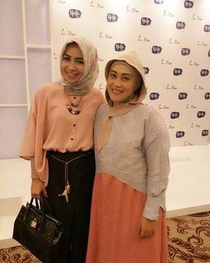 With mba @dwinayusuf most humble yet gorgeous person 😘😍☺ #girlsquad #mysquadisbetterthanyours #HelloLtru #LtruFashionShow2017 #LetsSpreadLove #clozetteid