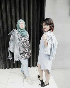 Cem model jaket jeans banget nih kakaaaa @arini.endah ✌🙈💋 #stylediary #ootd #fashionstatement #officestyle #bestfriend #friday #denimondenim #denimjacket #andiyanipics #clozettehijab #clozetteid #hijabstyleindonesia #hijabootdindo #lookbook#ahensilife #anakahensi #bouncheid