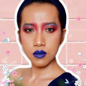 Bukan makeup ondel2. Sudah mirip profpictnya @racunwarnawarni belom? 🐒 --- Makeup @bymonicaagustami --- #facepainting #faceoftheday #clozetteid #bloggerindonesia #bloggerperempuan #makeupdiarymonica #beauty #makeup #jogjabloggirls #makeupartist #muajogjakarta